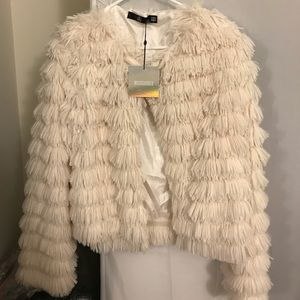 Missguided Cream Faux Fur Jacket